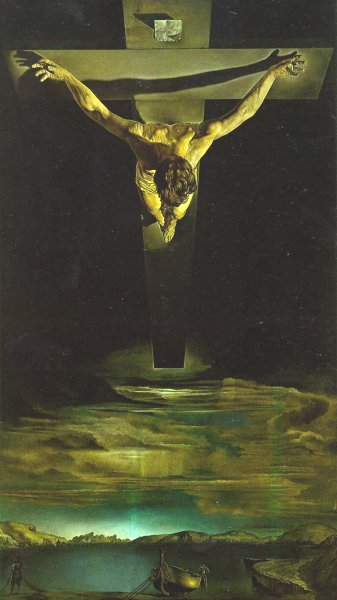 En este trabajo de Dali parece verse que todos tenemos nuestras cruces, mas si hay genocidas sueltos y las presis les dan casas--analiza Ovidio--del libro Arte En La Jungla